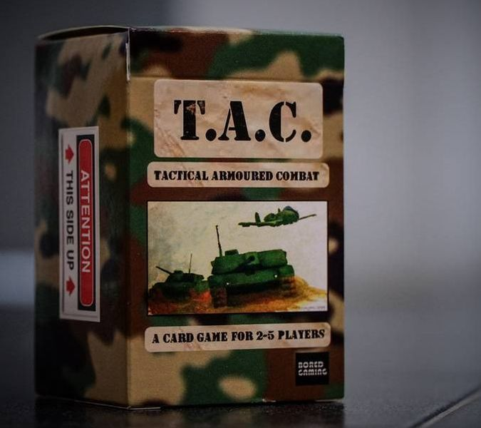 Tactical Armoured Combat modern warfare card game box