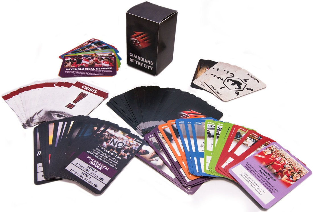 Guardians of the City Total Defence Card Game cards